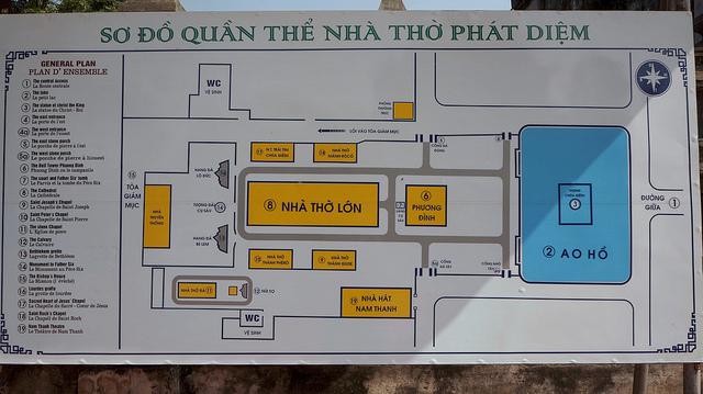 Sơ đồ quần thể nhà thờ Phát Diệm